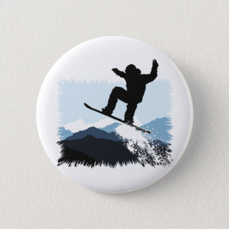 Badge Snowboarder actions Jump