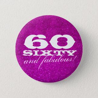 Badge soixantième bouton d'anniversaire pour des parties