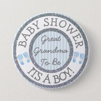 Badge Son un garçon, grande grand-maman à être bouton de