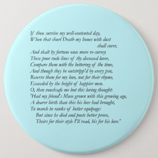 Badge Sonnet # 32 par William Shakespeare