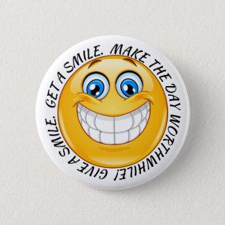 Badge Soyez la raison bouton de quelques sourires