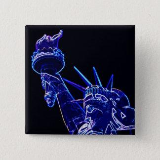 Badge Statue d'art de bruit de liberté