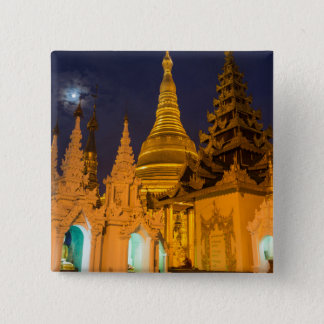 Badge Stupa d'or et temples
