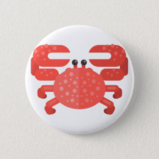 Badge Style rose de primitif de crabe
