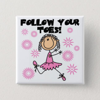 Badge Suivez vos T-shirts et cadeaux de ballerine