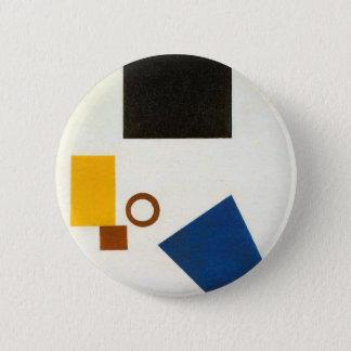 Badge Suprematism. Autoportrait dans deux dimensions