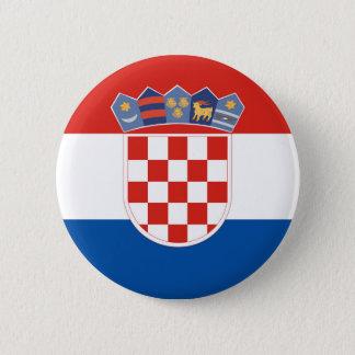 Badge Symbole de drapeau de pays de la Croatie longtemps