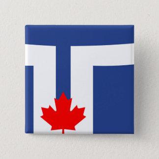 Badge Symbole du Canada de drapeau de ville de Toronto