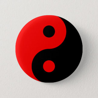 Badge Symbole rouge de Yin Yang