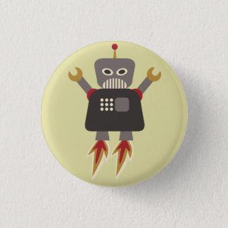 Badge Talent de robot de bande dessinée de rétrofusée