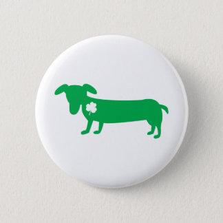 Badge Teckel du jour de St Patrick