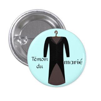 Badge témoin du marié bleu