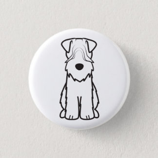 Badge Terrier blond comme les blés doucement enduit