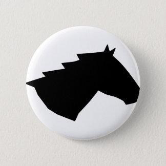 Badge Tête de cheval en vent