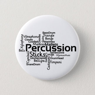 Badge Texte de noir de nuage de mot de percussion