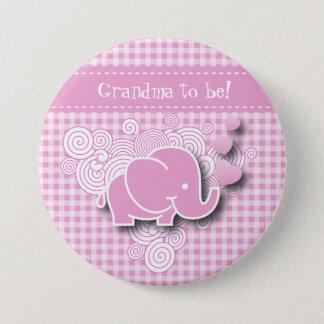 Badge Texte rose et blanc de l'éléphant   do-it-yourself