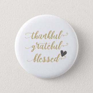 Badge Thanksgiving béni reconnaissant reconnaissant