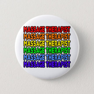 Badge Thérapeute de massage d'arc-en-ciel
