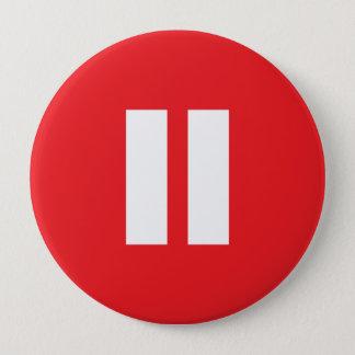 Badge Touche attente rouge et blanche