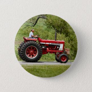 Badge Tracteur rouge