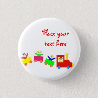 Badge Train heureux d'enfants