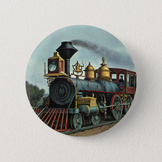 Badge Transport vintage, locomotive de train de charbon