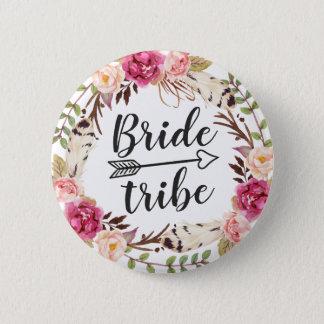 Badge Tribu florale de jeune mariée de guirlande de