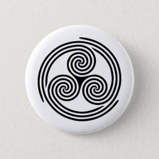 Badge Triskelion en spirale triple