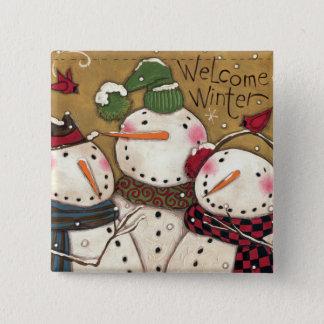 Badge Trois bonhommes de neige