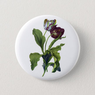 Badge Tulipes tirées de la nature par Gerard van