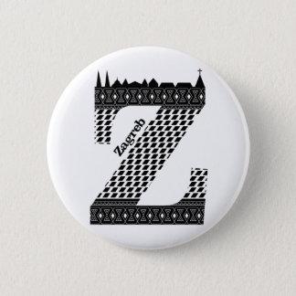 Badge Typographie Z (Zagreb : Bouton de la Croatie)