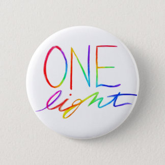 Badge Un arc-en-ciel inspiré léger exprime des boutons