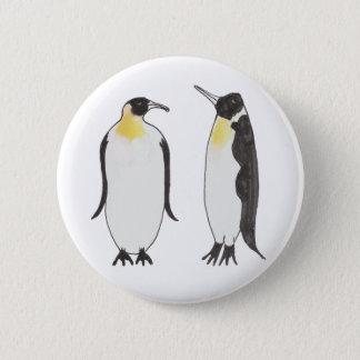 Badge Un dessin d'encre de couples de pingouin
