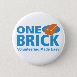 Badge Une borne de logo de brique