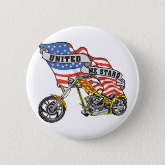 Badge Uni nous tenons le cycliste
