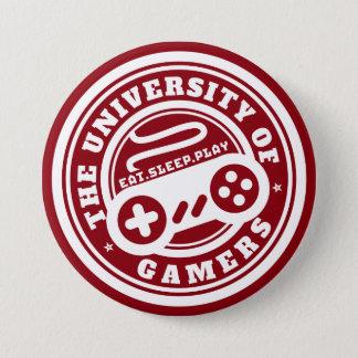 Badge Université rouge de bouton de jeu de phoque de