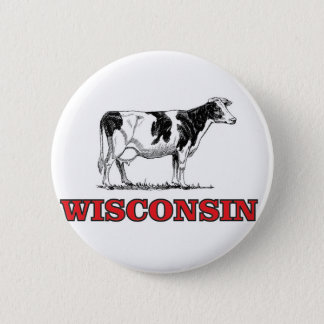 Badge vache rouge au Wisconsin