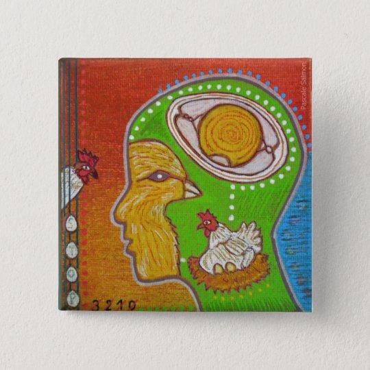 Badge vegan egg chicken
