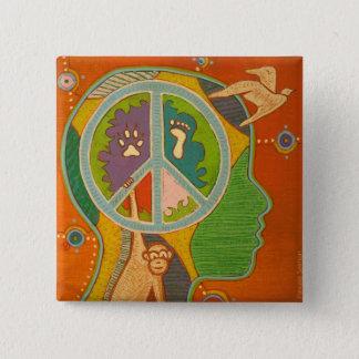 Badge vegan peace symbol