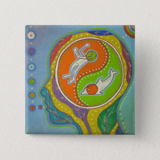 Badge vegan Yin Yang