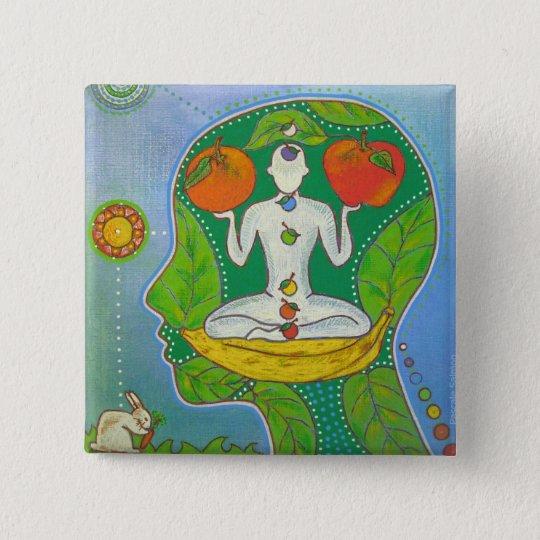 Badge vegan yoga fruits