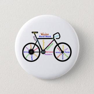 Badge Vélo de motivation, cycle, faisant du vélo, mots