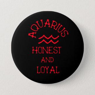 Badge Verseau (texte rouge)
