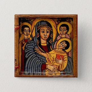 Badge Vierge Marie l'icône éthiopienne de Theotokos