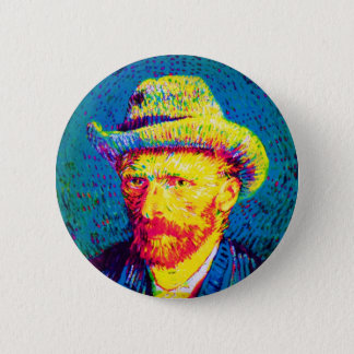 Badge Vincent van Gogh - autoportrait d'art de bruit