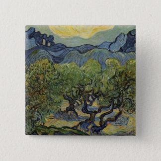 Badge Vincent van Gogh - paysage avec les oliviers