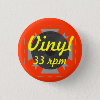 Badge Vinyle 33 t/mn