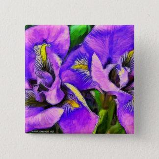 Badge Violette de couleur d'iris