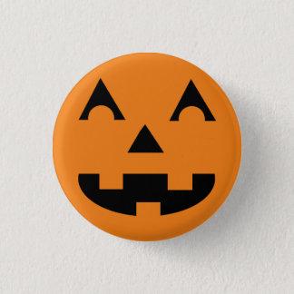 Badge Visage de citrouille de Halloween Jack-o'-lantern
