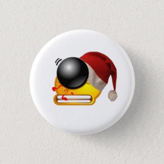 Badge visage de Noël de tir de battement